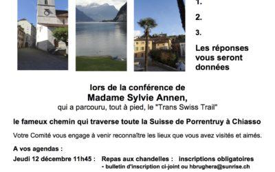 CIRCULAIRE RENCONTRE DU 28.11.19